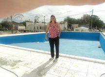 CERVANTES: Montanaro recorrió la obra de la pileta de natación