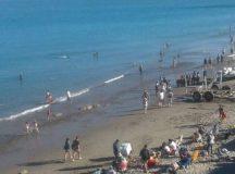 Mucha gente disfrutó la costa rionegrina