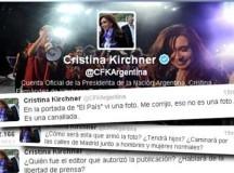 """Cristina calificó de """"canallada"""" la publicación de una falsa foto de Chávez en la portada del diario El País"""