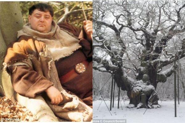 Descubren un Roble con increíble parecido al Fray Tuck de Robin Hood