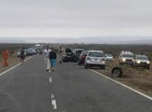 PIEDRA DEL ÁGUILA: Seis heridos en choque frontal sobre Ruta 237