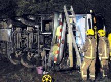 Tragedia: volcó un micro en la ruta, murieron cinco personas y hay varios heridos