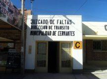 CERVANTES: El juzgado de faltas municipal realiza controles de tránsito