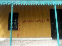 CERVANTES: Vandalizan la casa histórica de nuestra ciudad