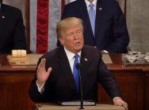 Trump llamó a la unidad nacional en su primer discurso del Estado de la Unión