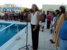 Se inauguro la pileta de natación municipal en Cervantes