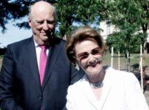 El Presidente y la primera dama reciben a los reyes de Noruega