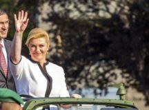 La presidenta de Croacia arriba al país en visita oficial