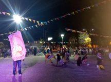 CERVANTES: Se realizó este sábado la presentación de murgas en la plaza Manuel Belgrano