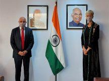 García Larraburu se reunió con el Embajador de la República de la India en Argentina, S.E. Dinesh Bhatia
